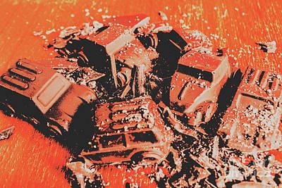 Old Truck Wall Art - Photograph - Smashem Crashem Cars by Jorgo Photography - Wall Art Gallery