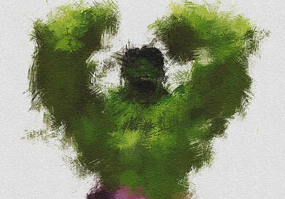 Character Portraits Digital Art - Smashing Green by Miranda Sether