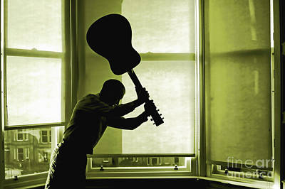Photograph - Smashing Up A Guitar by Craig B