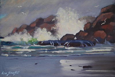 Painting - Smashing Waves by Len Stomski