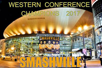 Photograph - Smashville Western Conference Champions 2017 by Lisa Wooten
