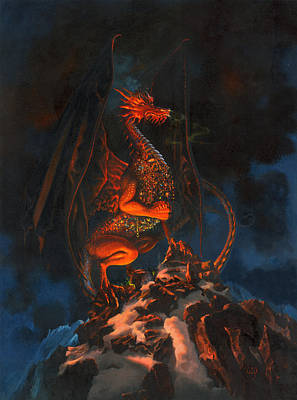 Painting - The Hobbit - Smaug The Impenetrable by Carol Phenix