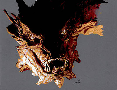 Drawing - Smaug The Terrible by Kayleigh Semeniuk