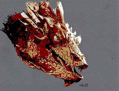 Drawing - Smaug The Unassessably Wealthy by Kayleigh Semeniuk