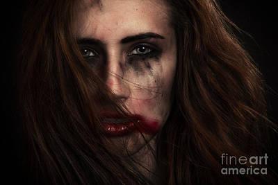 Smeared Cosmetcs Art Print by Aleksey Tugolukov