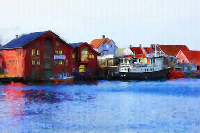 Smeasund Haugesund Art Print by Michael Greenaway