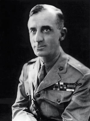 Smedley Butler - U. S. Marines General - 2 Time Medal Of Honor Recipient Art Print by Daniel Hagerman
