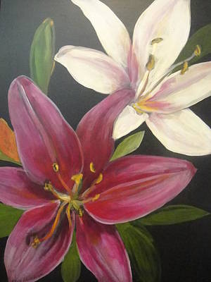 Smell The Lilies Art Print