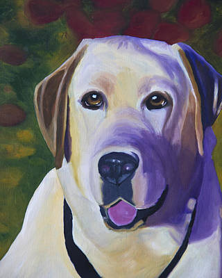 Dog Portrait Painting - Smell The Roses by Roger Wedegis