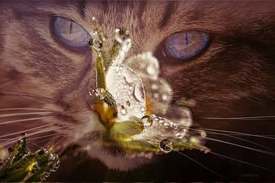 Digital Art - Smelling The Dew Drops by Ericamaxine Price