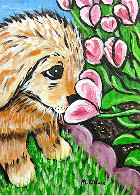 Smelling The Flowers Art Print