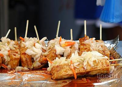 Tofu Photograph - Smelly Fermented Tofu With Pickled Cabbage by Yali Shi