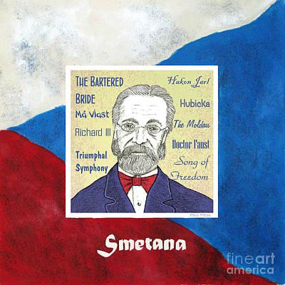 Czech Drawing - Smetana by Paul Helm