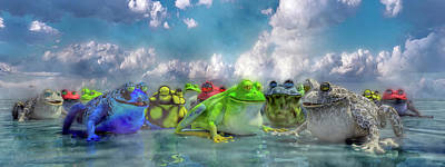 Animals Digital Art - Smile and Be Happy by Betsy Knapp