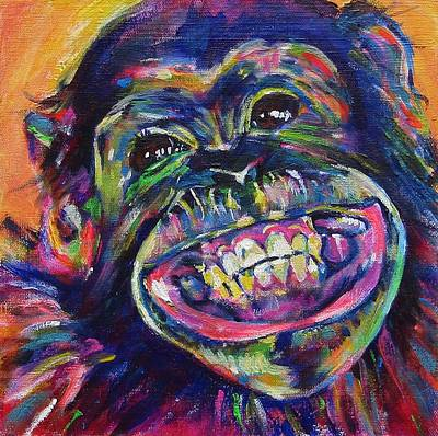 Smile And The Whole World Smiles Original by Karin McCombe Jones