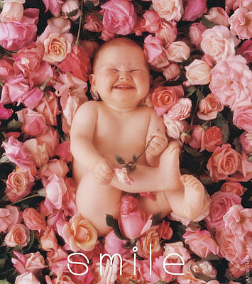 Print featuring the photograph Smile by Anne Geddes