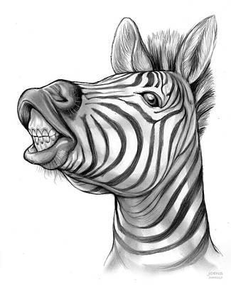 Animals Drawings - Smile by Greg Joens