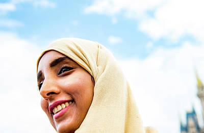 Smiling Hijab At Magic Kingdom Art Print