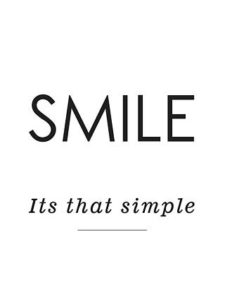 Smile -its That Simple Art Print