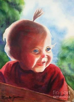 Smile Art Print by Marilyn Jacobson