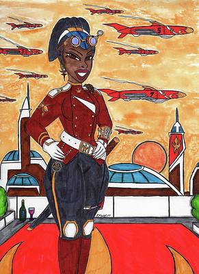 Smile My Lady Art Print by Ronald Woods