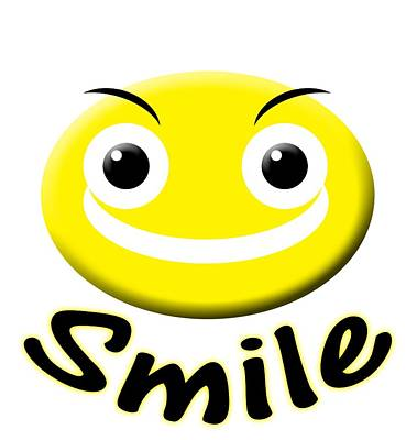 Digital Art - Smile T-shirt by Isam Awad