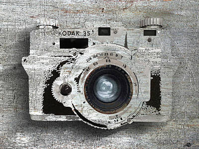 Vintage Camera Mixed Media - Smile by Tony Rubino