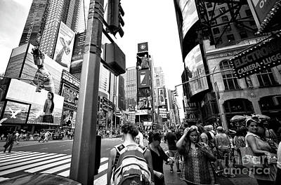 Photograph - Smiles In Times Square by John Rizzuto