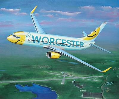 Retro Wall Art - Painting - Smiles Over Worcester  by Peter Ring Sr