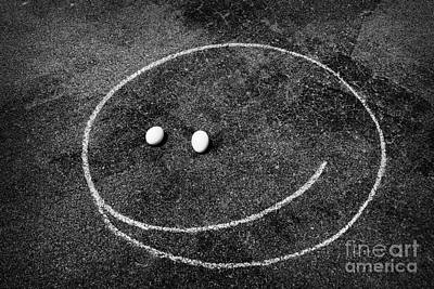 Print featuring the photograph Smiley - Chalk N Eggs by Aimelle