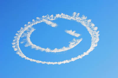 Photograph - Smiley Face Cloud by Amyn Nasser