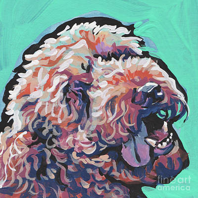 Poodle Painting - Smiley Face by Lea
