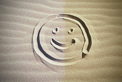 Photograph - Smiley In The Sand by Mihaela Pater