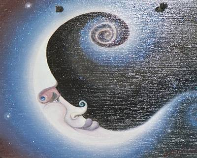 Painting - Smiley Moon by Suzn Art Memorial