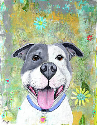 Wall Art - Painting - Smiley Pitty by Carol Iyer