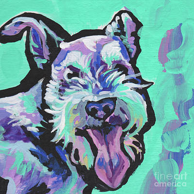 Miniature Schnauzer Painting - Smiley Schnauz by Lea