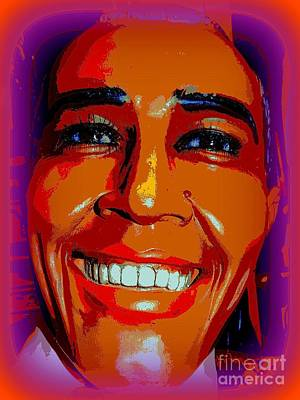 Digital Art - Smiling Barack by Ed Weidman