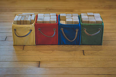 Color Block Photograph - Smiling Block Bins by Scott Norris