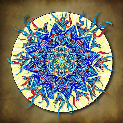 Digital Art - Smiling Blue Moon Mandala by Deborah Smith