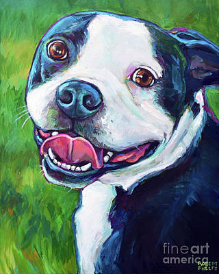 Painting - Smiling Boston Terrier by Robert Phelps