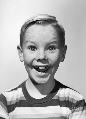 Amazing Stories Photograph - Smiling Boy, C.1950s by Debrocke/ClassicStock