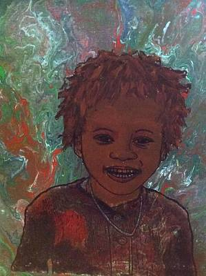 Painting - Smiling Boy  by Karen Buford