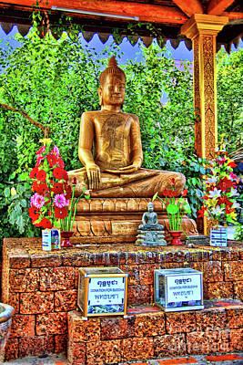 Pop Art Rights Managed Images - Smiling Buddha Royalty-Free Image by Rick Bragan