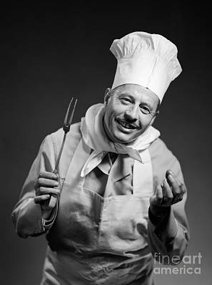 Smiling Chef, C.1950s Art Print by Debrocke/ClassicStock