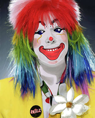 Painting - Smiling Clown by Methune Hively