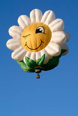 Photograph - Smiling Daisy Hot Air Balloon by Nicolas Raymond