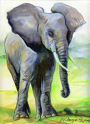 Painting - Smiling Elephant by Johannes Margreiter