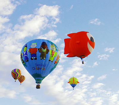 Photograph - Smiling Fish Balloon by Jeff Swan