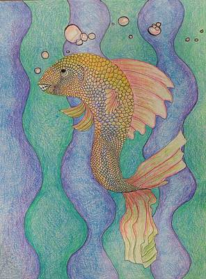 Smiling Fish  Art Print by Clara Brayton