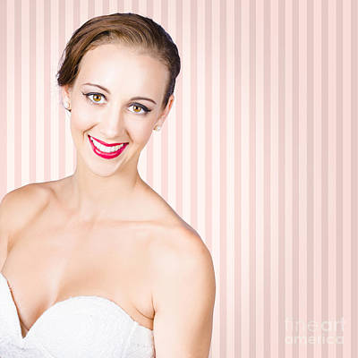 Smiling Girl With Model Hairstyle And Light Makeup Art Print by Jorgo Photography - Wall Art Gallery